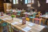 Restaurant Le Cloître- Musée vie wallonne - Liège - tables
