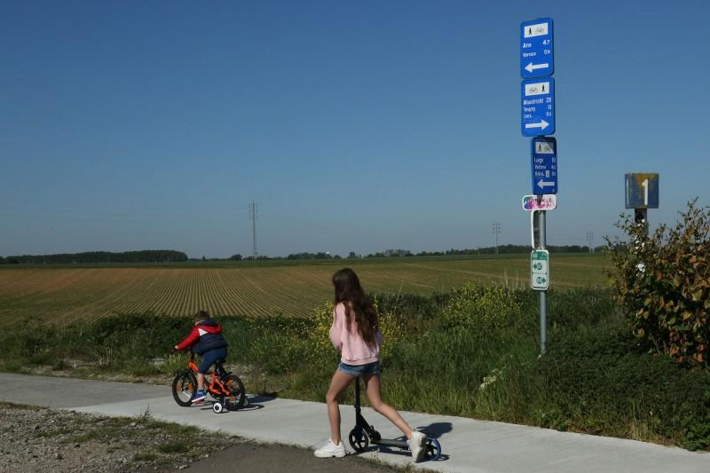 Wandel- en fietstochten - Tussen de Maas en de Jeker - Liers - RAVeL