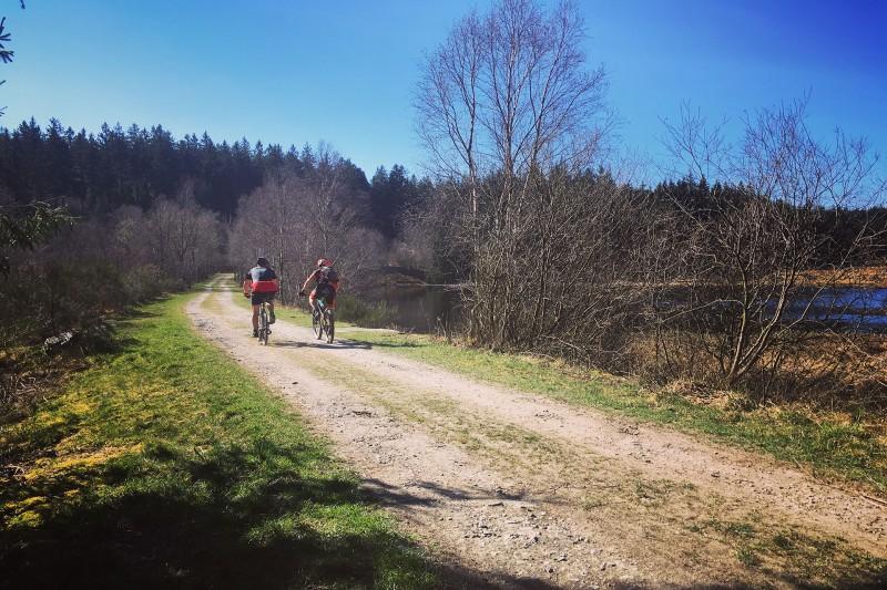 Wandel- en fietstochten - Venen en Schwarzsee - Schwarzsee vijver