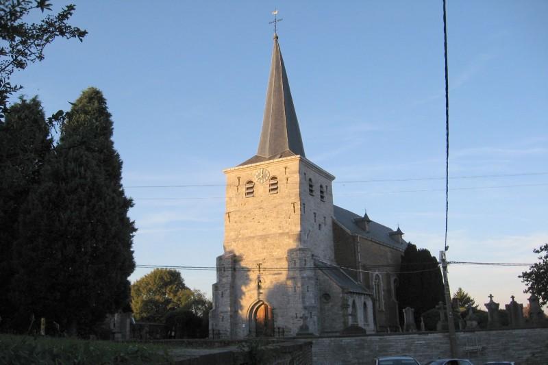 Wandel- en fietstochten - Dorpen aan de Jeker - Celles - Sainte-Madelbertekerk
