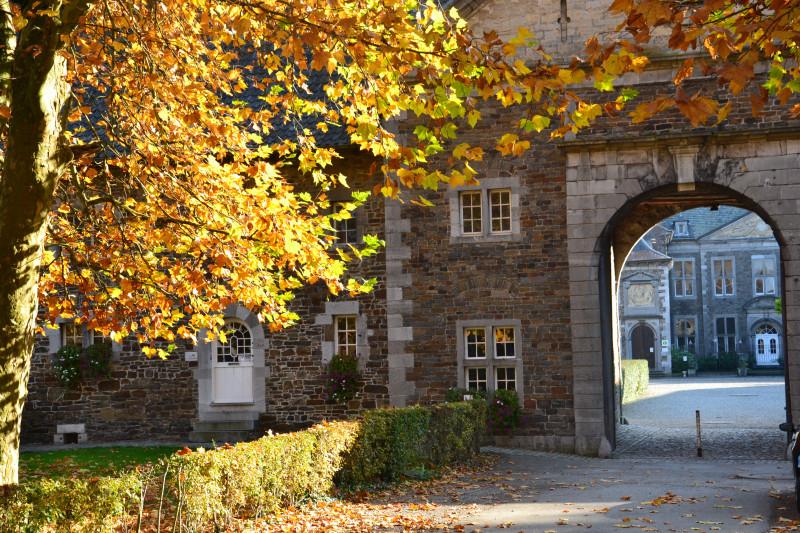 Aubel abbaye du Val-Dieu portail d'entrée