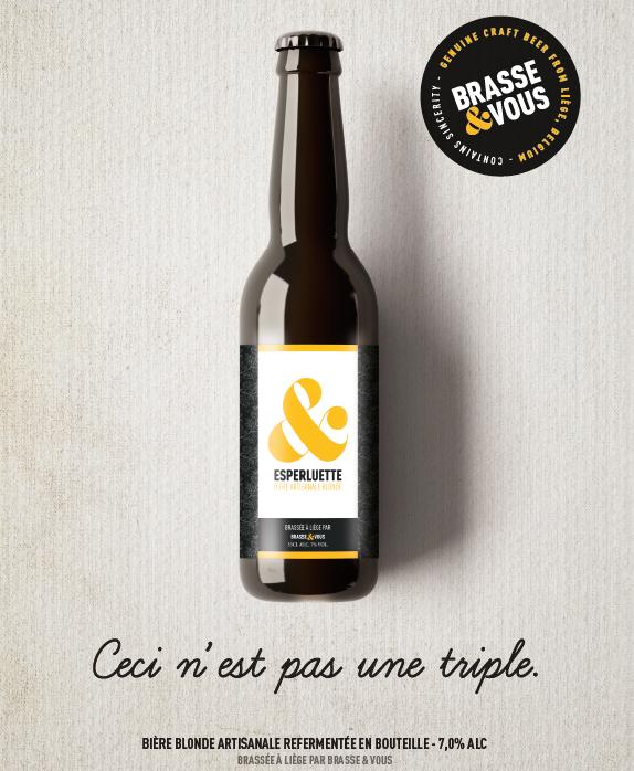 Bière Esperluette blonde