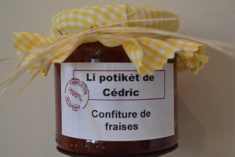 Li potikèt de Cédric - Herstal - confiture fraise