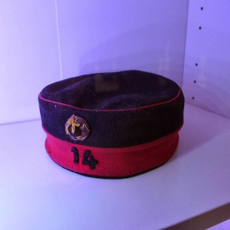 Coiffe de soldat Belge 14ème de Ligne 1914