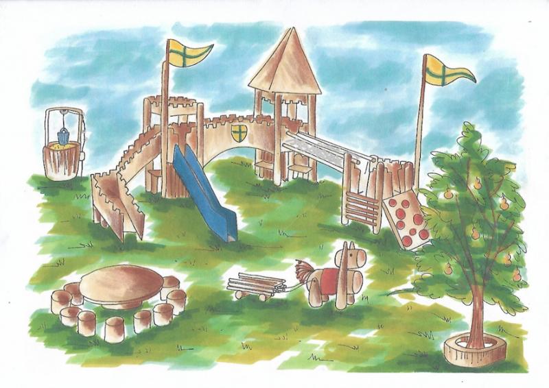 Schéma plaine de jeux du Pré Desonay