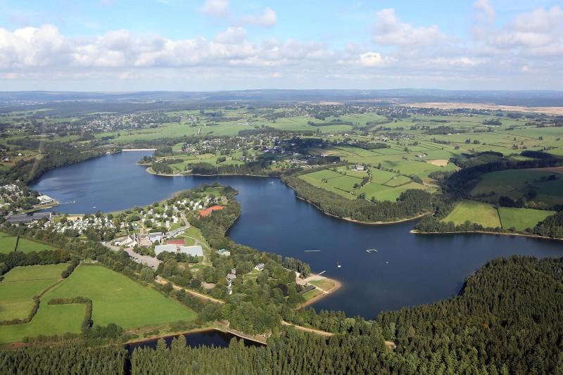 Lac de Bütgenbach - Vue aérienne