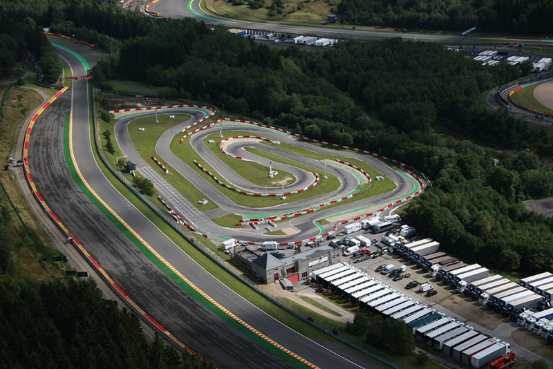 Spa-Francorchamps -  Karting - Vue aerienne