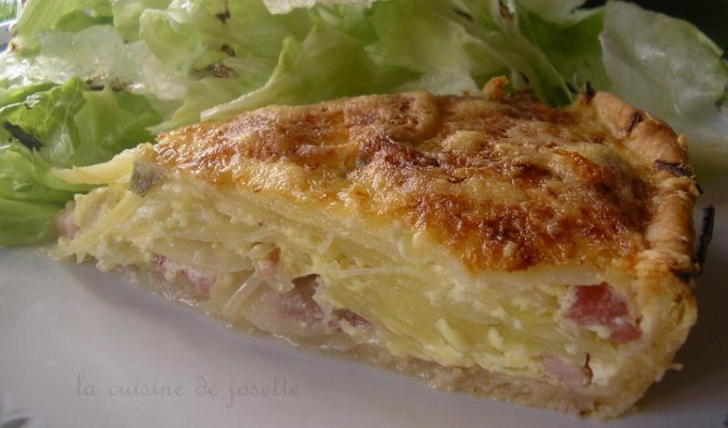 Tarte aux lards cuisine de Josette