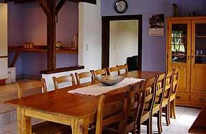 Le cottage du coticule salle à manger