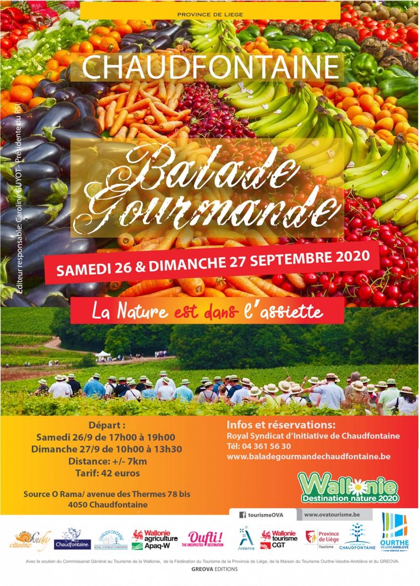 « La NATURE est dans l'ASSIETTE » annonce une Balade vraiment très Gourmande !