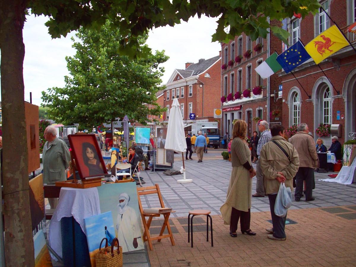 Peintres dans la rue aubel