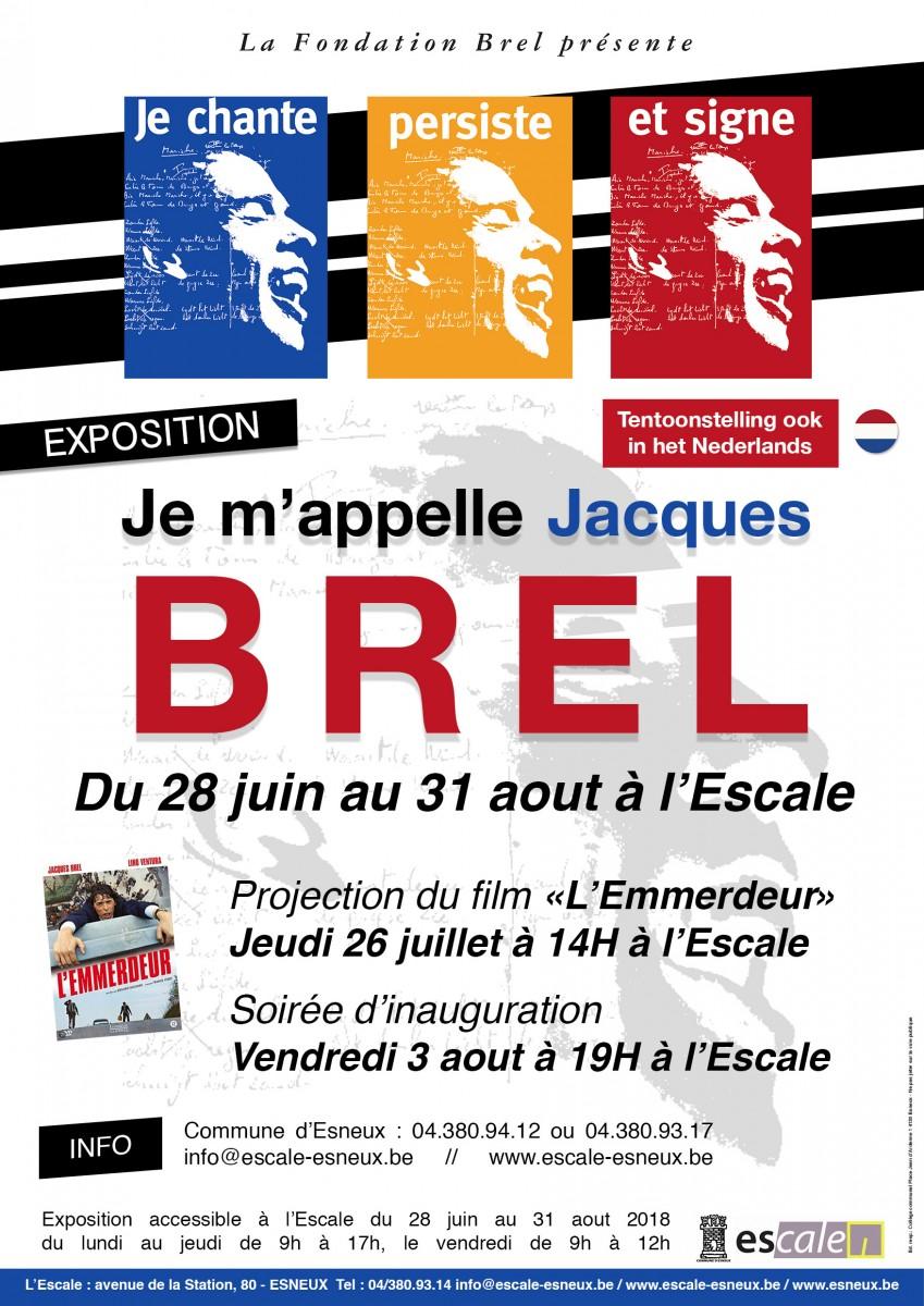 Je chante, persiste et signe. Je m'appelle Jacques Brel