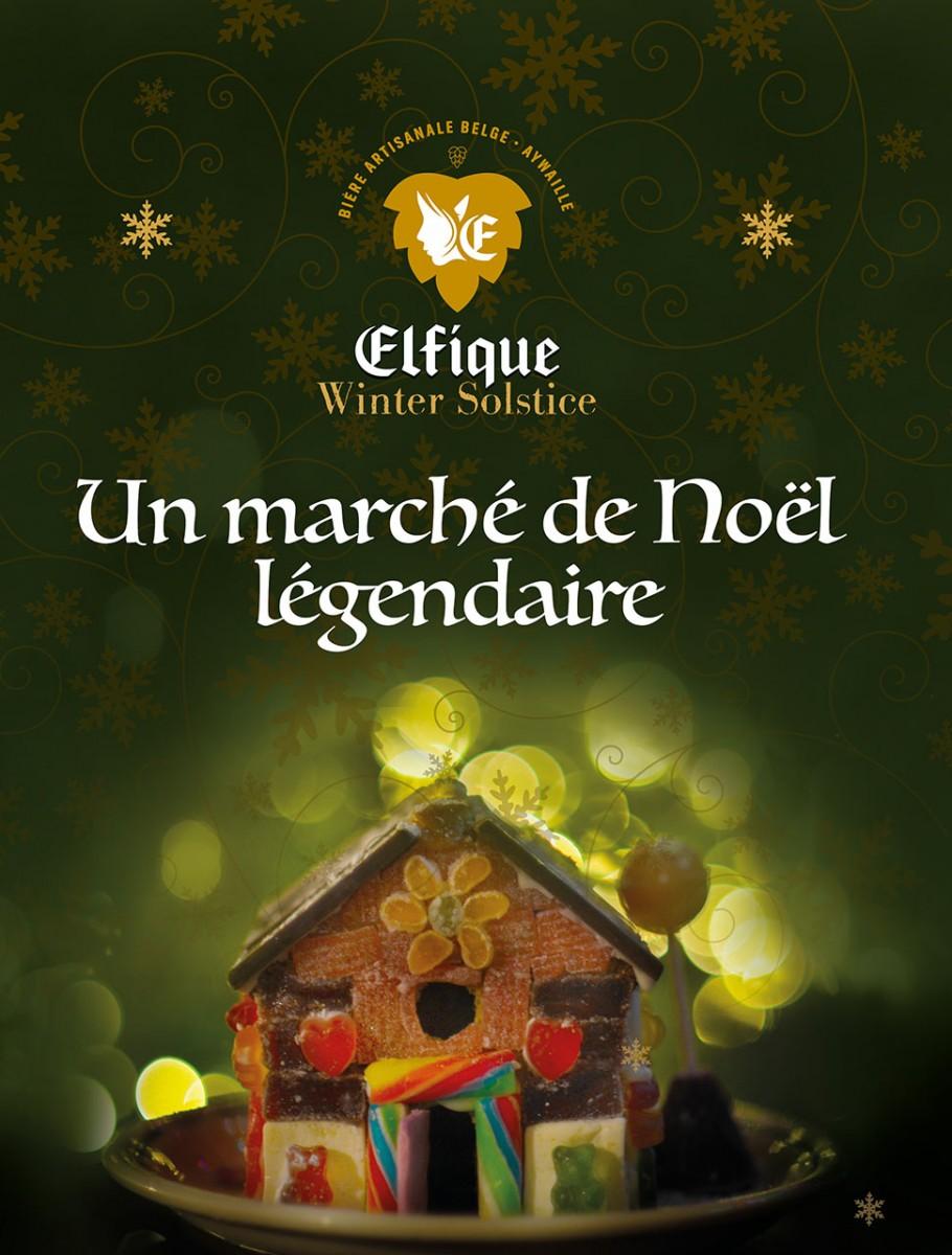 Marché de Noël à la Brasserie Elfique - Aywaille - Affiche 2019