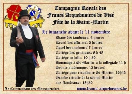 Fête de la Saint-Martin - Compagnie Royale des Anciens Arquebusiers