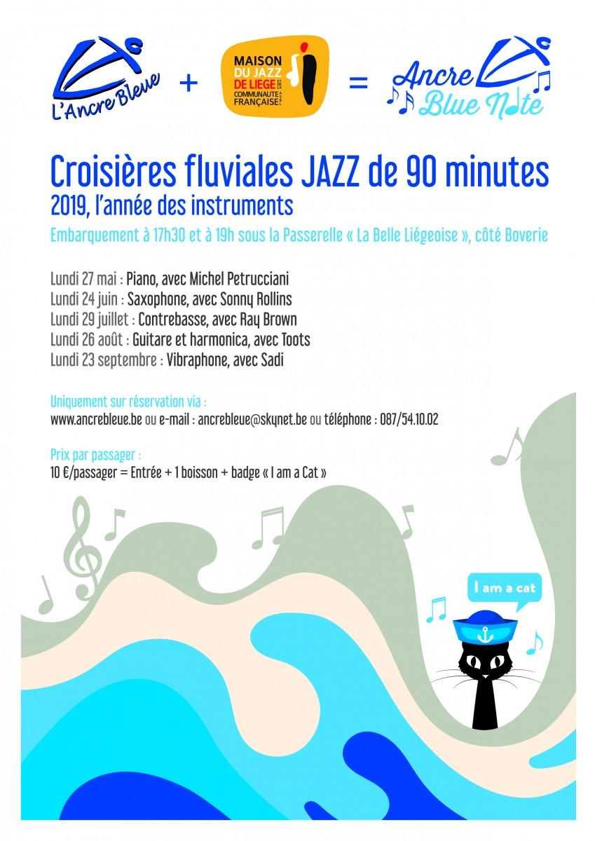 Croisière Jazz - Barquerolle - Affiche jazz 2019