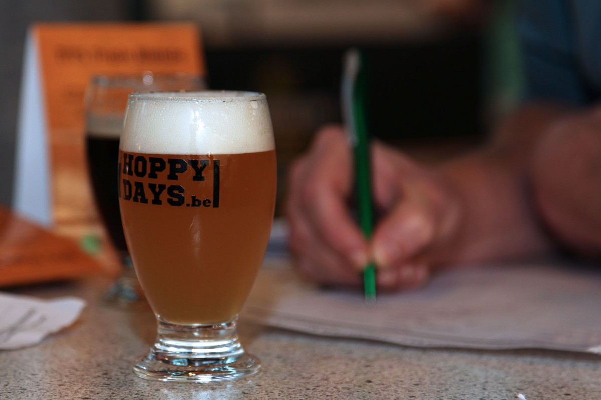 Hoppy Days - Liège - Verre de bière