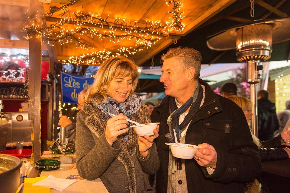 Marché de Noël - Malmedy - dégustation spécialités régionales