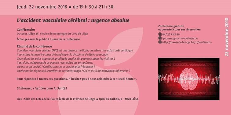 Liège - Conférence AVC - Programme