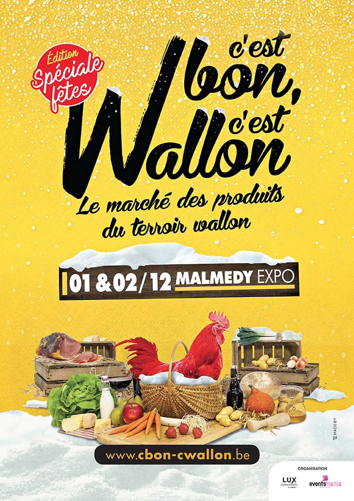 Malmedy - C'est bon, c'est wallon - Affiche 2018