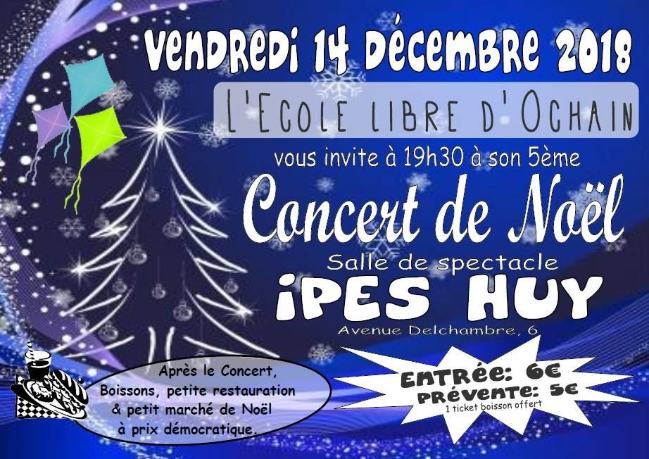 Concert Noël IPES - Huy - Affiche/Logo