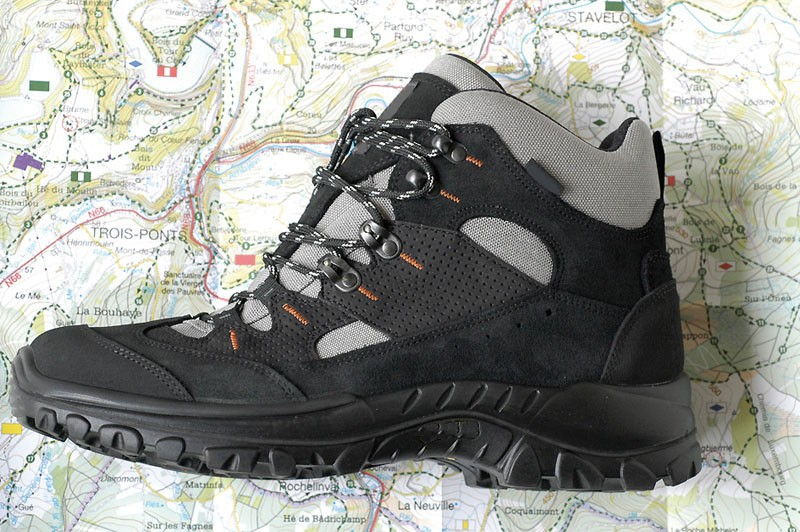 Balade Sources Amblève - Carte chaussure