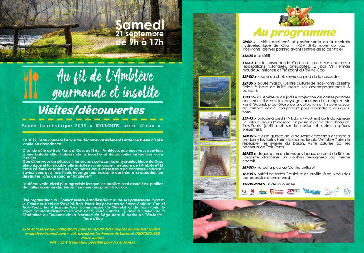 Flyer Le Contrat de Rivière pour l'Amblève - Trois-Ponts