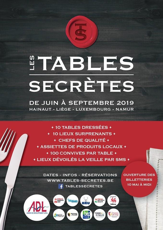 Tables Secrètes - Affiche