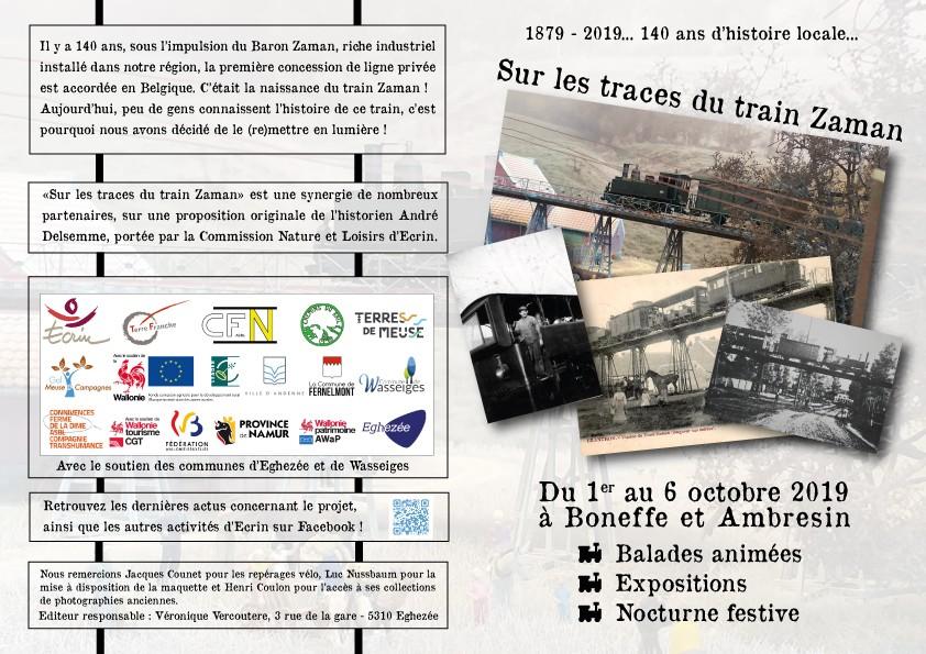 Ambresin - Sur les traces du train Zaman - Dépliant Recto