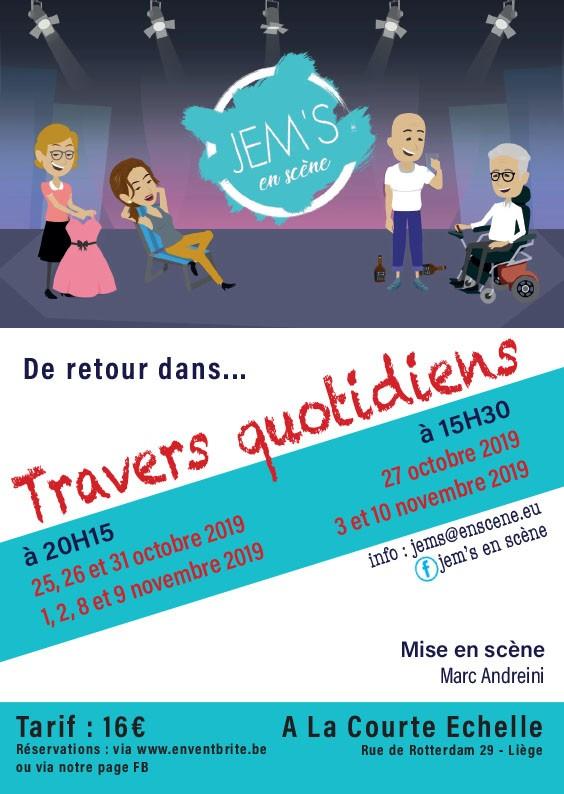 Spectacle Jem's en scène - Liège - Affiche