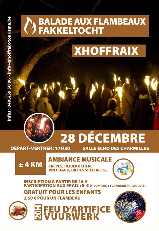 Balade aux flambeaux - Xhoffray - Affiche 2019