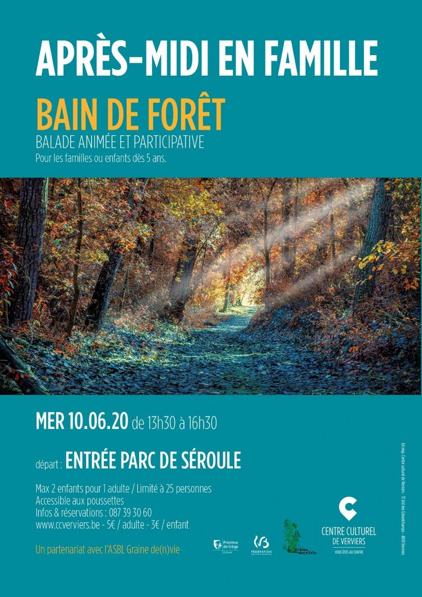 Affiche Bain de forêt