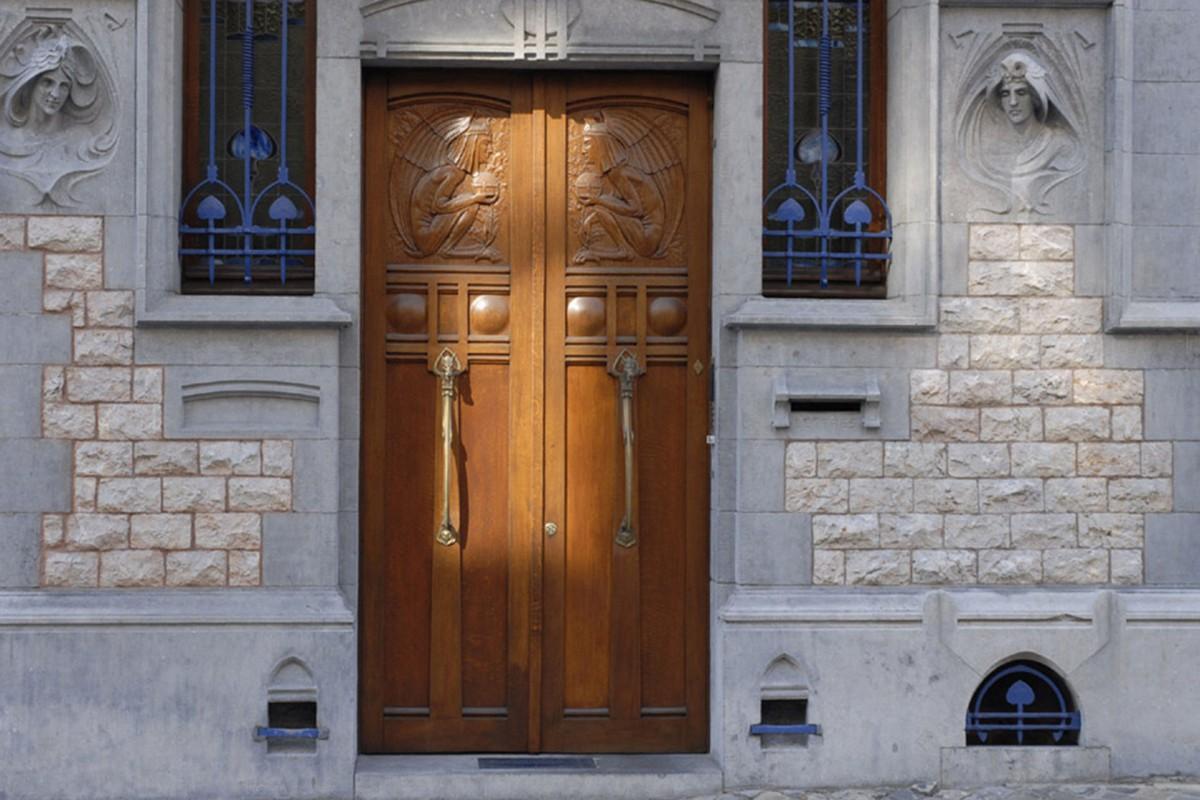 La maçonnerie dans le quartier des Guillemins © Office du tourisme de Liège