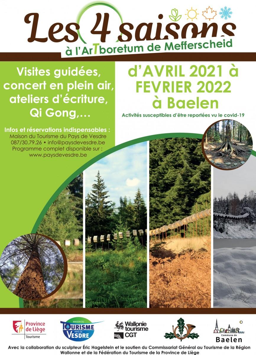 Affiche Les 4 saisons à l'Arboretum de Mefferscheid