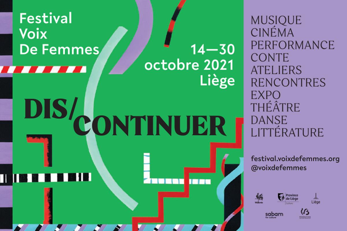 Affiche du festival Voix de Femmes - Liège