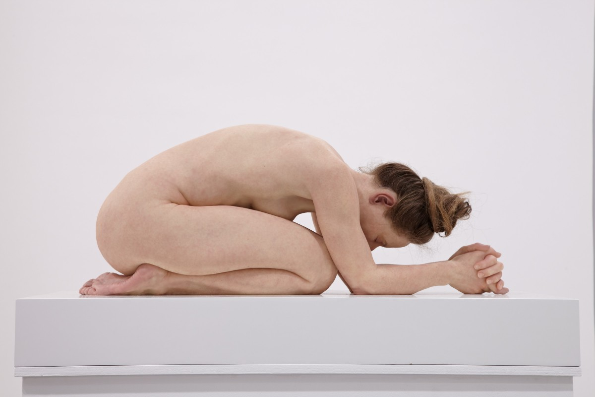 Sam Jinks, 'Untitled (Kneeling Woman),' 2015, silicone, pigment, resin, human hair, 30 x 28 x 72 cm_1 (1)