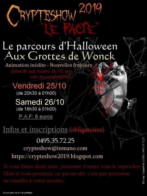 Halloween Crypteshow - Bassenge - Affiche 2019 | © Crypteshow2019