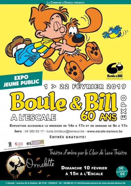 Esneux - Expo Boule et Bill - Affiche   © Studio Boule et Bill, 2019