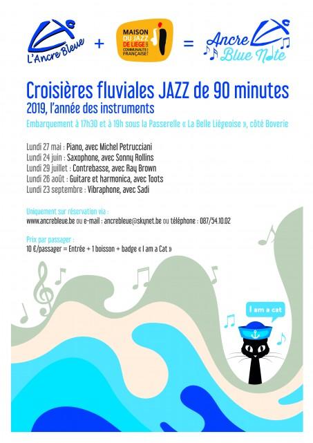 Croisière Jazz - Barquerolle - Affiche jazz 2019   © Ancre bleue