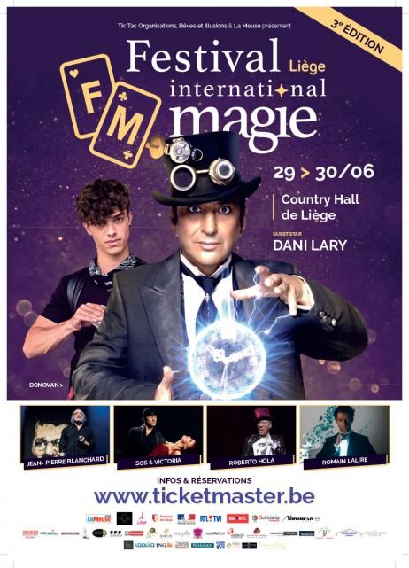 Liège - Festival International de la Magie de Liège - Affiche 2019 | © FIMDL