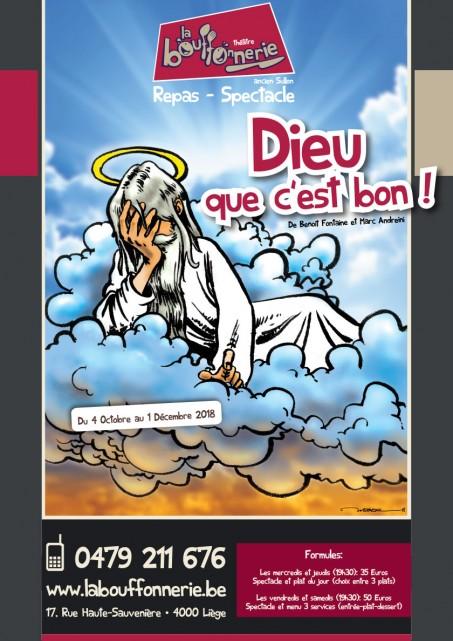 Liège - La Bouffonnerie - Dieu que c'est bon!   © La Bouffonnerie