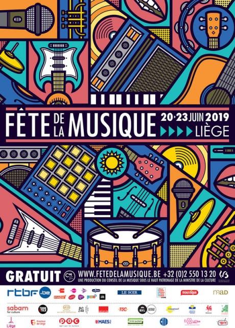 Liège - Fête de la Musique - Affiche 2019 | © Fête de la Musique