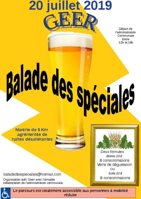 Geer - Balade des Spéciales - Affiche | © Balade des Spéciales
