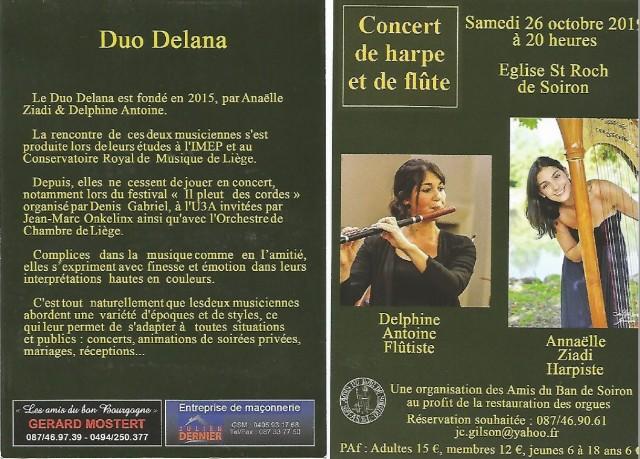 Concert Duo Delana   © Les Amis du Ban de Soiron