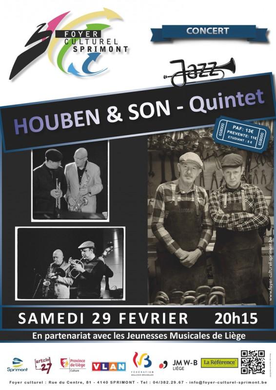 Concert - HOUBEN & SON - Quintet - Jazz