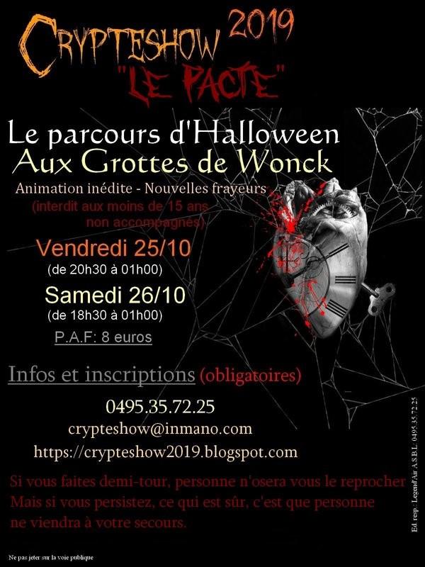 Halloween Crypteshow - Bassenge - Affiche 2019