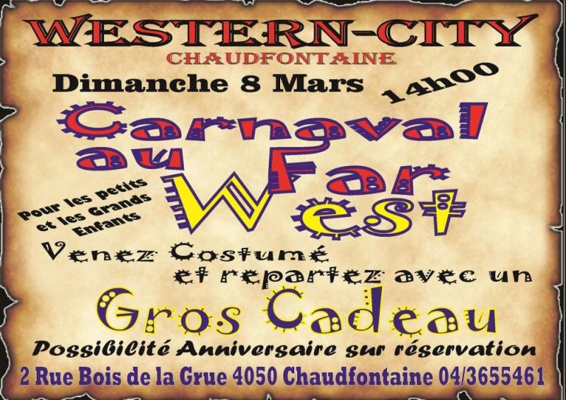 Carnaval à Western-City - Chaudfontaine - Affiche 2020