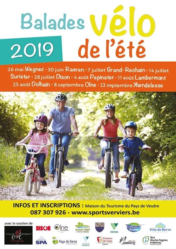 Balade à vélo de l'été 2019