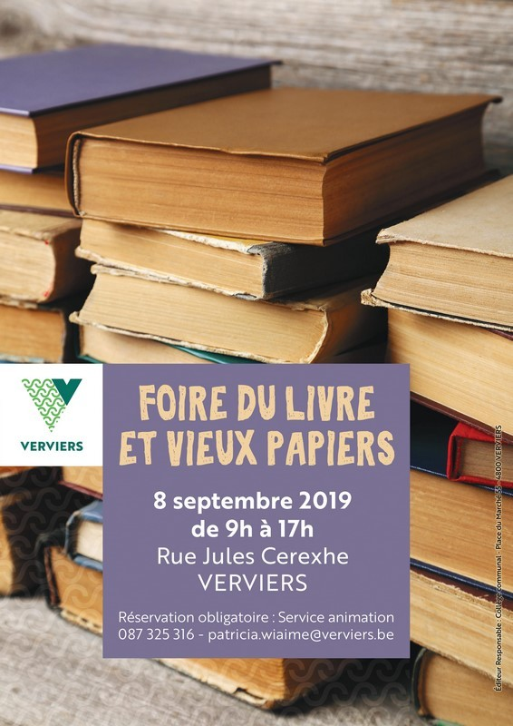 Foire Livre - Verviers - Affiche