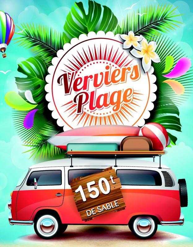Verviers - Verviers Plage - Affiche 2019