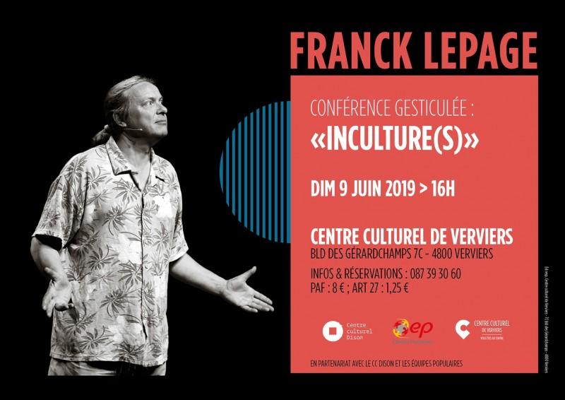 Franck Lepage Conférence affiche